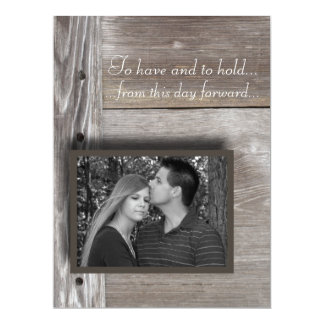 Barn wood wedding invitation