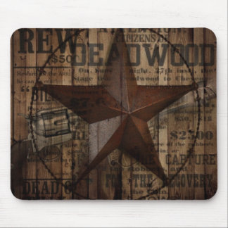 Barn Wood western country Texas Lone Star Mouse Pad
