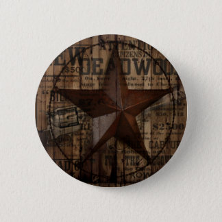 Barn Wood western country Texas Lone Star Pinback Button