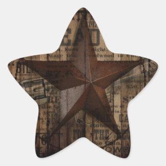 Barn Wood western country Texas Lone Star Star Sticker