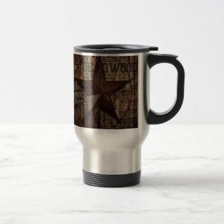 Barn Wood western country Texas Lone Star Travel Mug