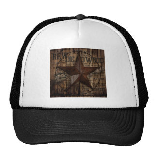 Barn Wood western country Texas Lone Star Trucker Hat
