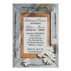 barn wood western country wedding rehearsal dinner card