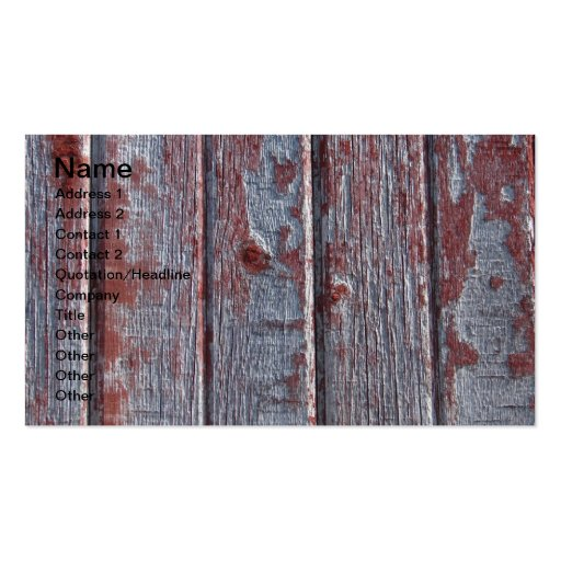 Barn Wood With Red Peeling Paint Business Card