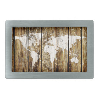 barn world map 2 rectangular belt buckle