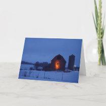 Barn Wreath Holiday Card