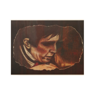 Barnabas and Rachel print on wood