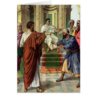barnabas and saul go out as missiona Greeting card