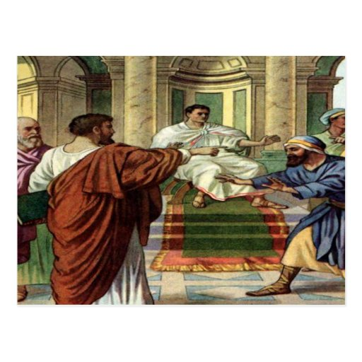barnabas and saul go out as missiona postcard