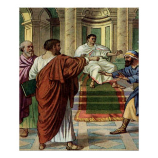 barnabas and saul go out as missionaries poster