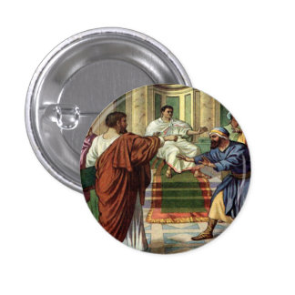 barnabas and saul go out missionary button