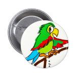 Barnabé parrot pinback button