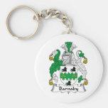 Barnaby Family Crest Keychain