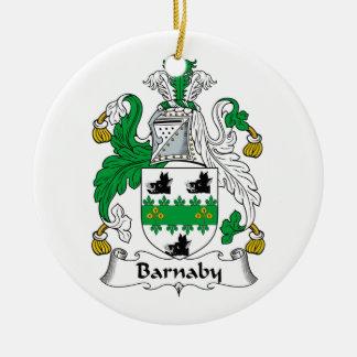 Barnaby Family Crest Christmas Tree Ornament