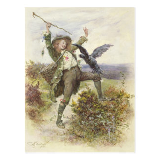 Barnaby Rudge and the Raven Grip Post Card