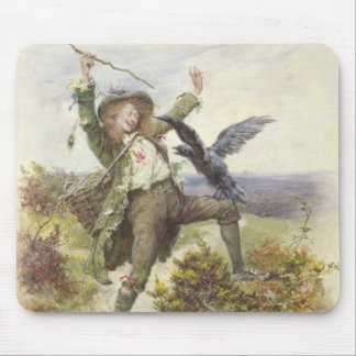 Barnaby Rudge y el apretón del cuervo Tapetes De Ratón