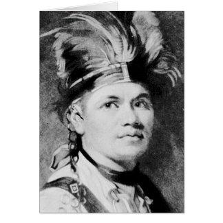 Barnacla - José/jefe indio del Mohawk Tarjeta