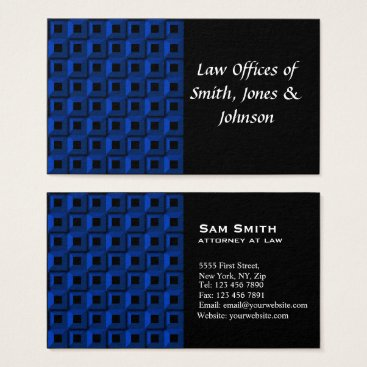 Lawyer Themed Barnacles in Blue Business Card