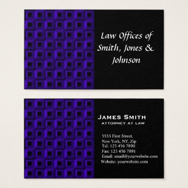 Lawyer Themed Barnacles in Dark Blue Business Card
