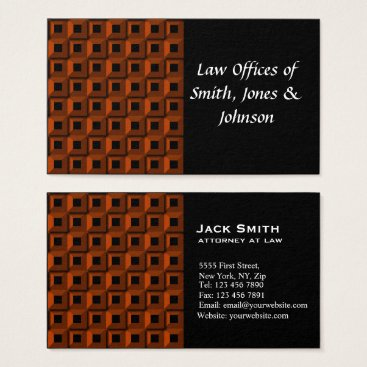 Lawyer Themed Barnacles in Orange  Business Card