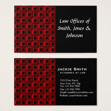 Lawyer Themed Barnacles in Red Business Card