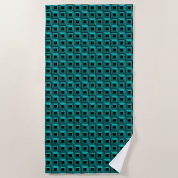 Beach Themed Barnacles in Turquoise Beach Towel
