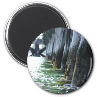 Barnacles on a Pier 2 Inch Round Magnet