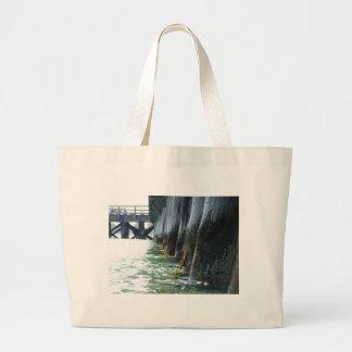 Barnacles on a Pier Jumbo Tote Bag