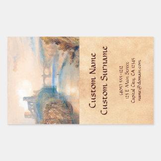 Barnard Castle Joseph Mallord William Turner Rectangular Sticker