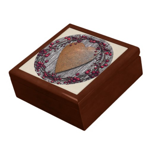 Barnboards Rusted Heart Jewelry Boxes