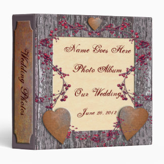 Barnboards Rusted Hearts Vinyl Binders