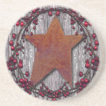 Barnboards Rusted Star Coasters