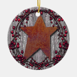 Barnboards Rusted Star Christmas Ornament