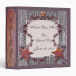 Barnboards Rusted Stars 3 Ring Binder