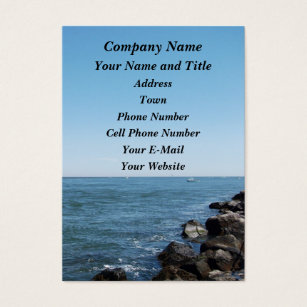 Long beach island business cards templates zazzle barnegat inlet and jetty business card colourmoves Image collections