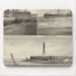 Barnegat Inlet Steamship Amerique Mousepads