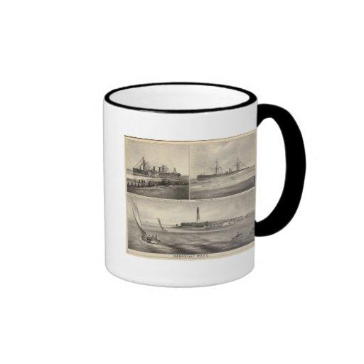 Barnegat Inlet Steamship Amerique Mugs