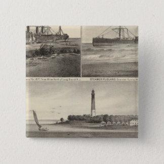 Barnegat Inlet Steamship Amerique Pinback Button