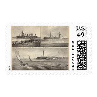 Barnegat Inlet Steamship Amerique Postage
