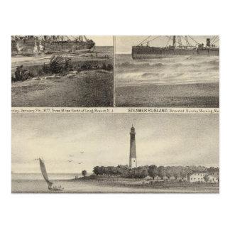 Barnegat Inlet Steamship Amerique Postcard