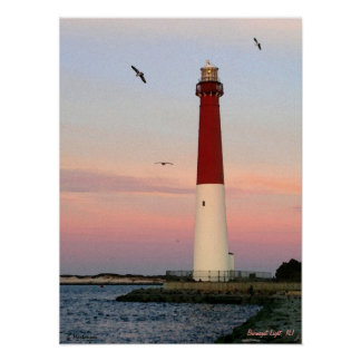 Barnegat Light , Long Beach Island, NJ Poster