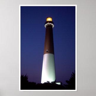 Barnegat Lighthouse at Night Poster