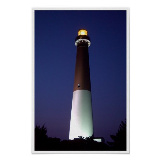 Barnegat Lighthouse at Night Poster