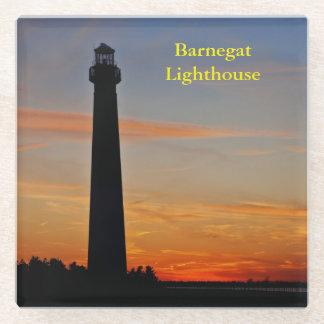 Barnegat Lighthouse at Sunset Glass Coaster