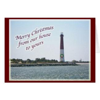 Barnegat Lighthouse Christmas Card