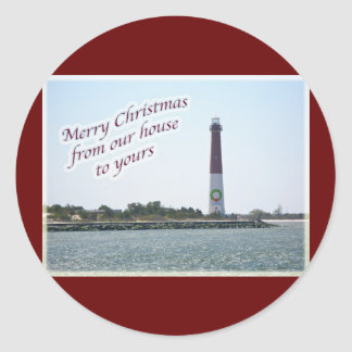 Barnegat Lighthouse Christmas Sticker