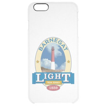 Beach Themed Barnegat Lighthouse Clear iPhone 6 Plus Case