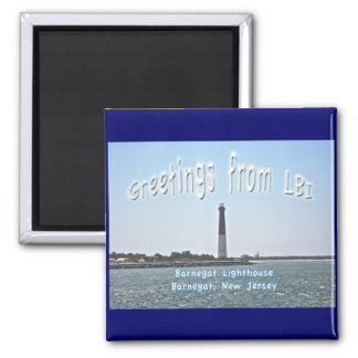 Barnegat Lighthouse LBI Greetings Magnet