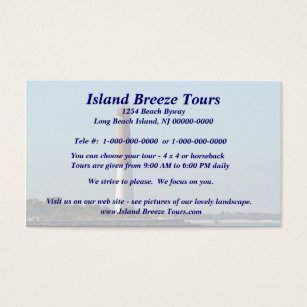 Long beach island business cards templates zazzle barnegat lighthouse long beach island new jersey business card colourmoves Image collections