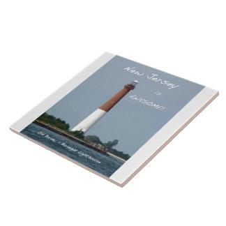 Barnegat Lighthouse Long Beach Island New Jersey Ceramic Tile